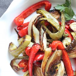 Roasted Peppers Onions & Fennel